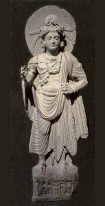 Escuela de Gandhara.Bodisatva Maitreya