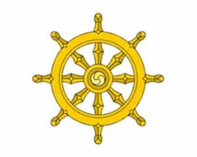 rueda dharma amarilla