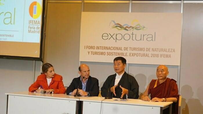 Dr. Lobsang Sangay, presidente de la CTA, en Expotural 2018